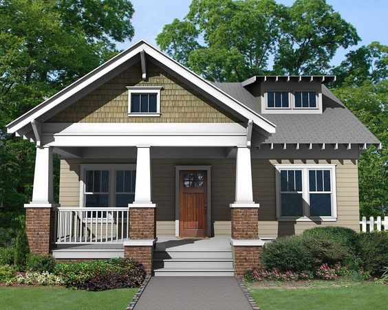 craftsman house plans with porch charming craftsman bungalow 50103ph 1st floor master 23390