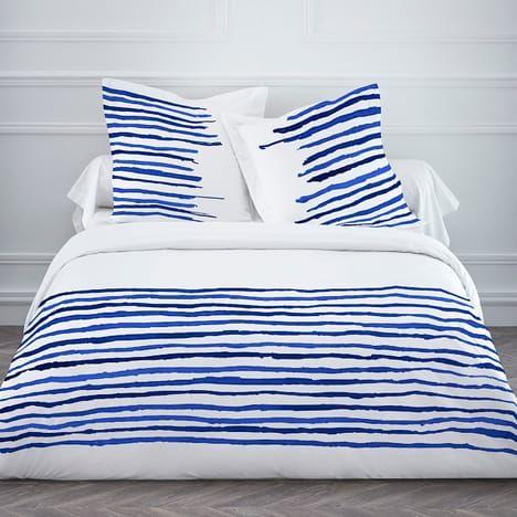 SPOT Housse de couette BLUE WATER 220x240 + 2 taies 100% coton 57fils