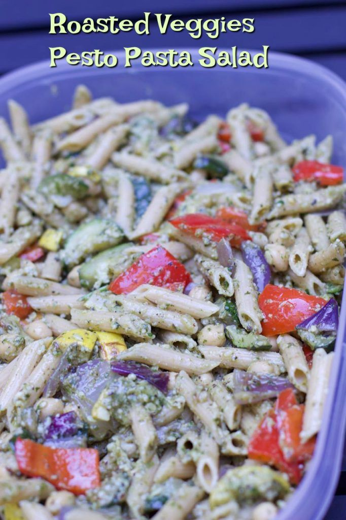 Roasted Vegetable Pesto Pasta Salad Recipe A Great Tailgate Easy Portable That Tastes At Room Temperature