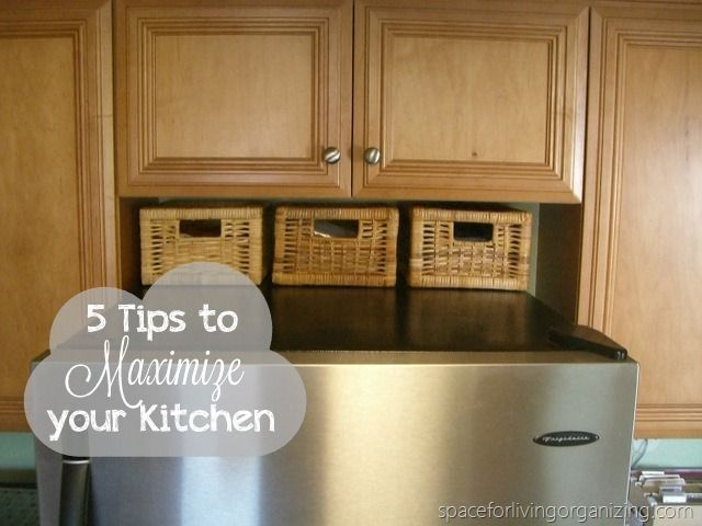 5 Tips to Maximize your kitchen...I need this!!