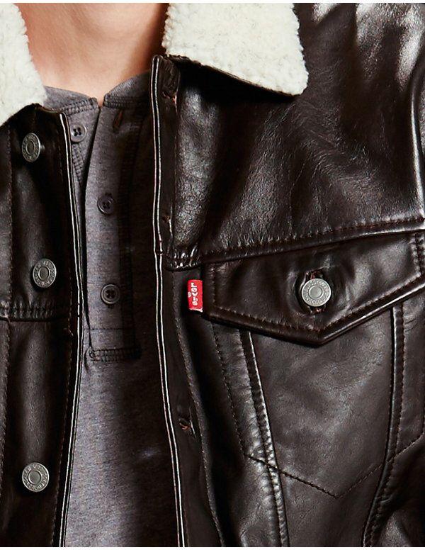 "#Levis ""The Leather Sherpa Trucker Red"" #cazadora #chaqueta #abrigo #jacket #coat #levistrucker #levisjacket #rebajas #sales #descuentos #ofertas #offers Antes 400€ Ahora 280€ http://www.rivendelmadrid.es/shop/catalogsearch/result/?q=Trucker"