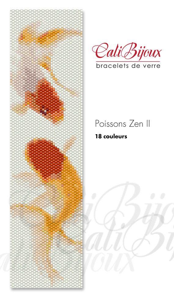 PATRON Poissons Zen II PATTERN by CALIBIJOUX on Etsy, $10.00