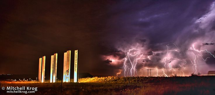 Man vs Machine - Lightning over Cradle of Humankind (Maropeng) by Mitchell Krog on 500px