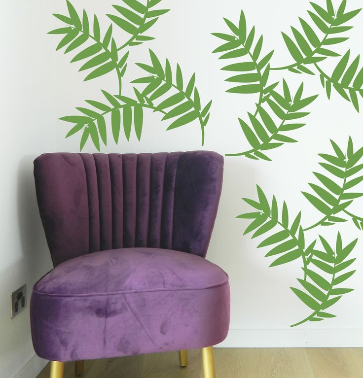 Palm Leaf Wall Stickers from Moonface Studio. #wallstickersmurals #palmtrees #wallstickers #decor #kidsroom