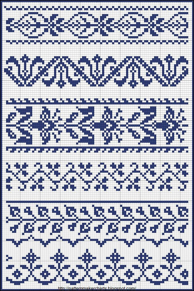 Fair Isle, border patterns