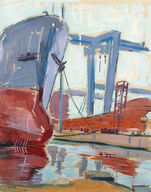 .:. Κοκόρης Δημήτρης – Dimitris Kokoris [1894-1961] TANKERS IN A SHIPYARD
