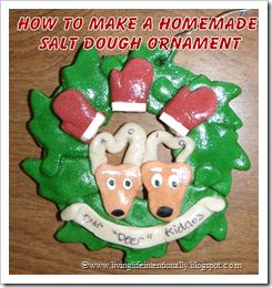 Make your own Salt Dough Ornaments from Living Life Intentionally