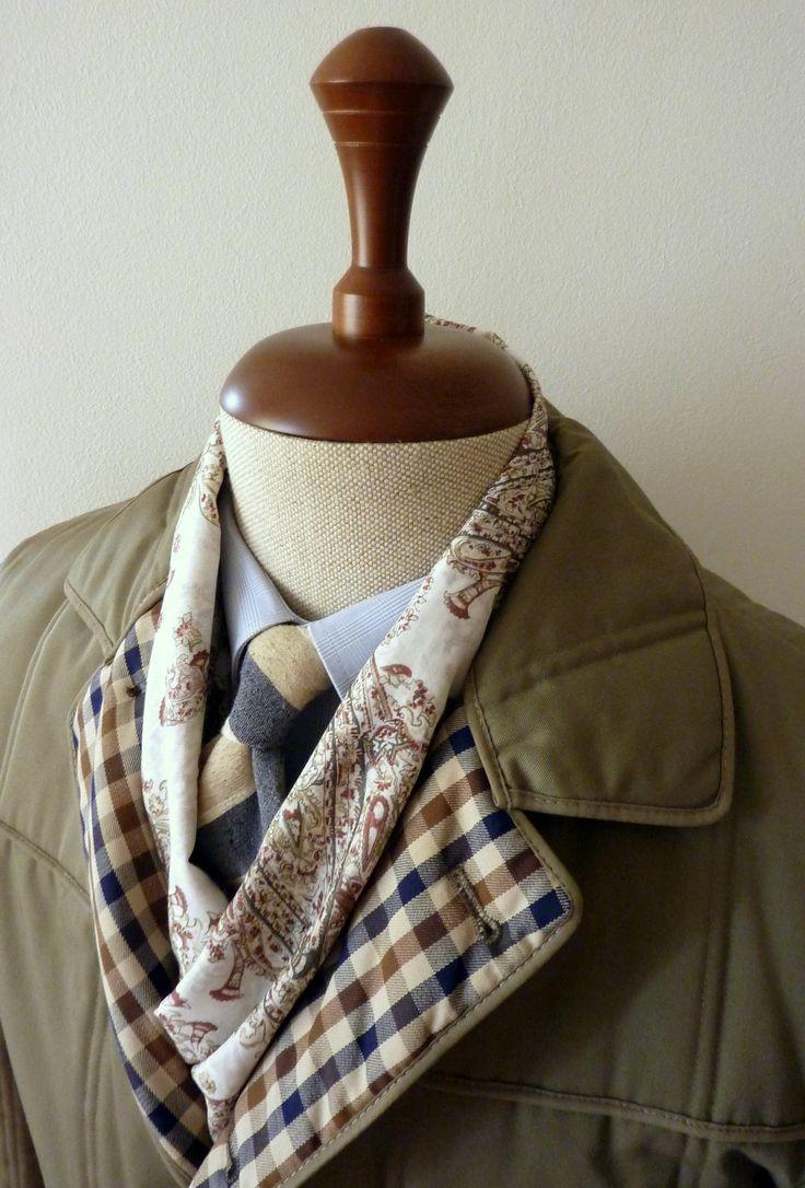 szal beżowy batyst bawełniany paisley