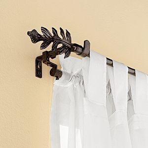 Add-a-Rod Extender  attaches to regular curtain rods to make them double ones- perfect for adding sheers later! $15