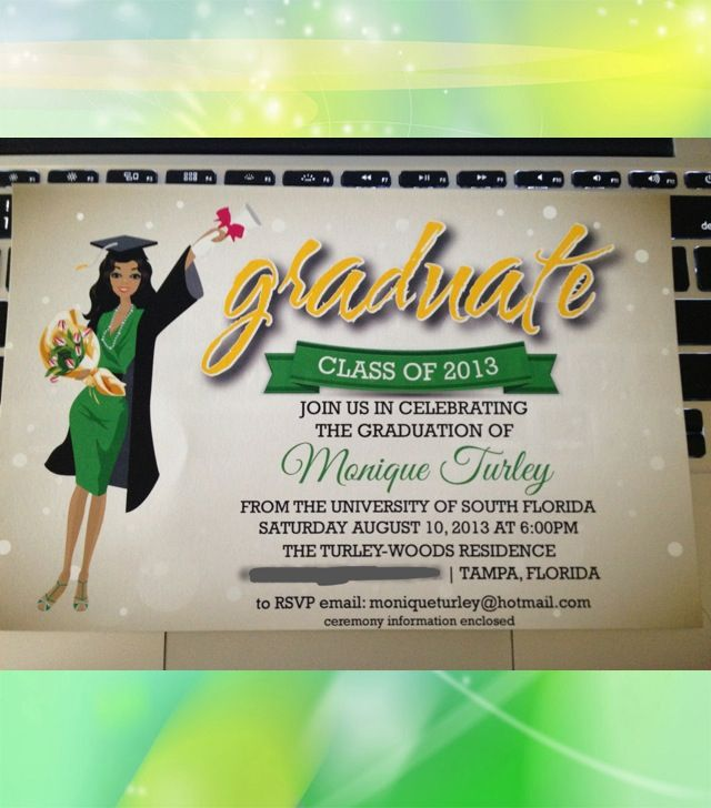 17 Best images about graduation invitations – College Party Invitations