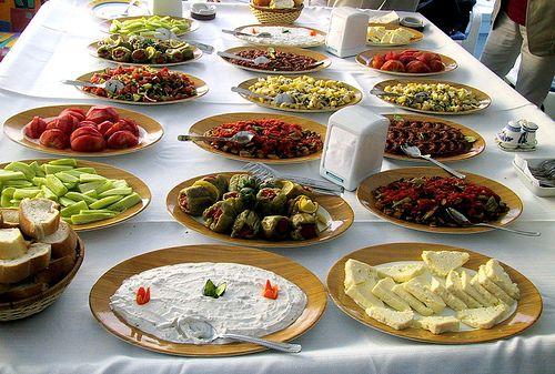 Traditional Cuisine is the dishes which are actually cooked and eaten in a typical Turkish family's house. The most common starter is soup. After the soup, another appetizer is the Mevsim Salatasi(Season's salad) or Coban Salata. Then comes the main meal. The main meal always includes meat. Then most Turkish people have tea after they are done.