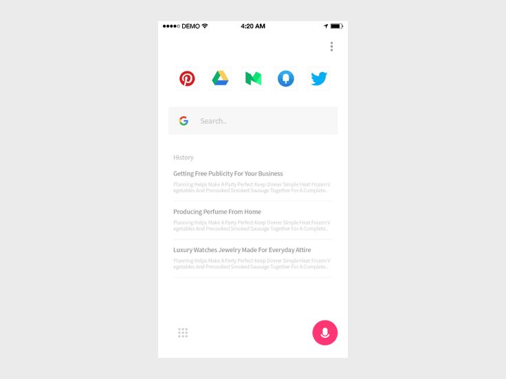 Voice Search #ui #ux #animation #mobile #dribbble #gif #ios #iphone #interface #design