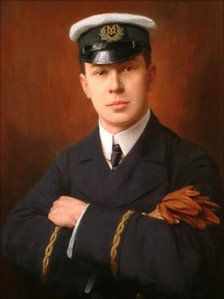 Jack Philips by Martin Ellis. Telegraphic Officer on the Titanic. Went down with the ship,after sending message to the Carpathia.Picture courtesy of Godalming Town Hall.