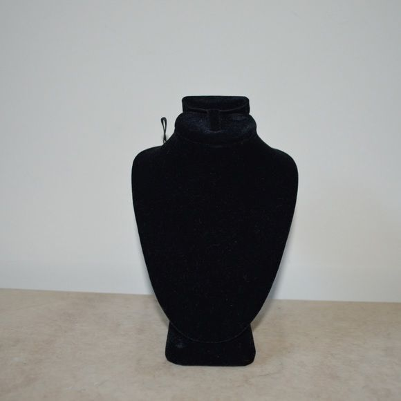 Black mannequin jewelry holder 6' tall. Great condition. Other