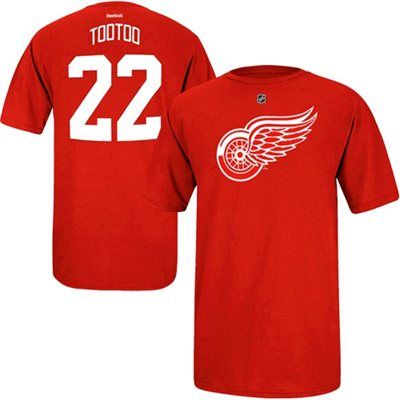 Reebok Jordin Tootoo Detroit Red Wings Player Name & Number T-Shirt - Red