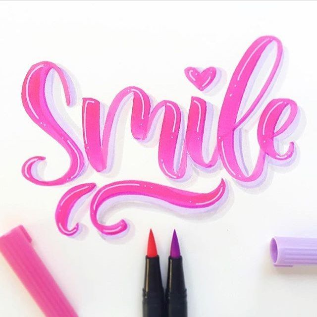 "1,956 Likes, 13 Comments - Tombow USA (@tombowusa) on Instagram: ""If this lettering by @everyday.hooray doesn't make you smile, we don't know what will! Dual Brush…"""