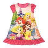 Kids Girls Official Disney Princess / Frozen Elsa Anna / Cinderella Nightdress Nightie Nighty Dress Size UK 2-8 Years