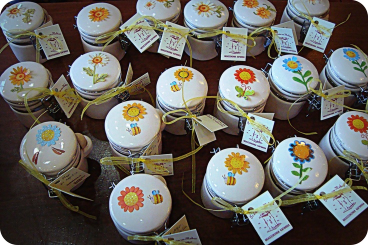 Μπομπονιέρες με μέλι και καρύδια