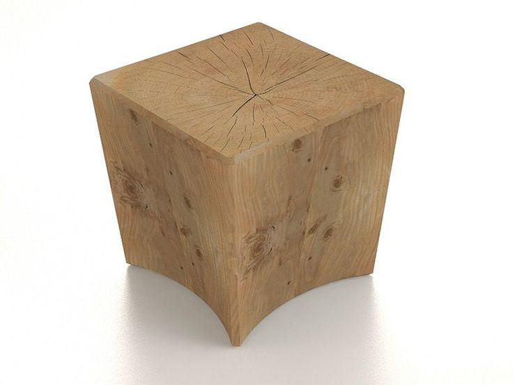 Sgabello in legno massello STOCK by Riva 1920 | design Piergiorgio Cazzaniga