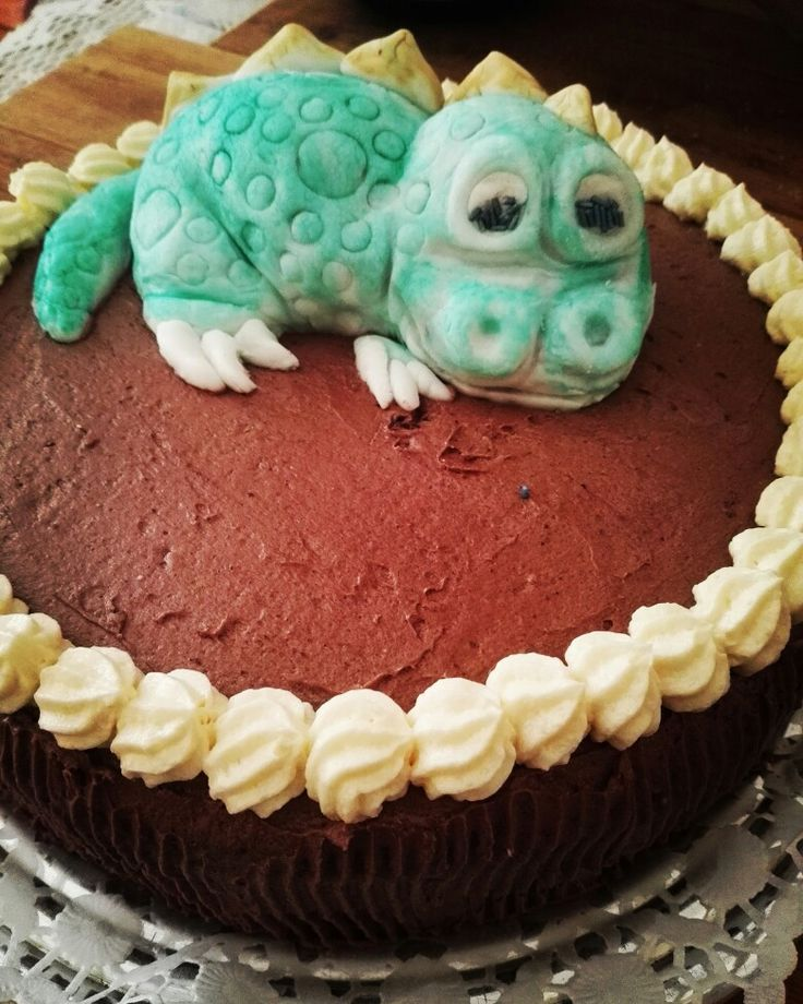 Capuciner cake with (marzipan-punch) dragon child -2016 may