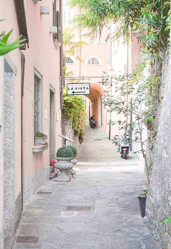 Dreaming of Como's pastel streets tonight!