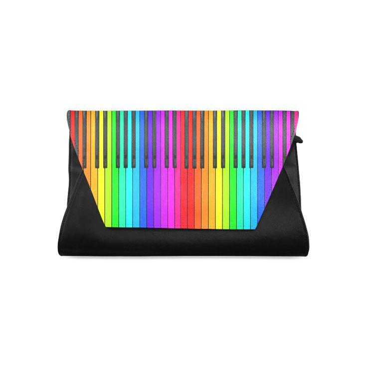 Rainbow Piano Keyboard Clutch Bag (Model 1630)