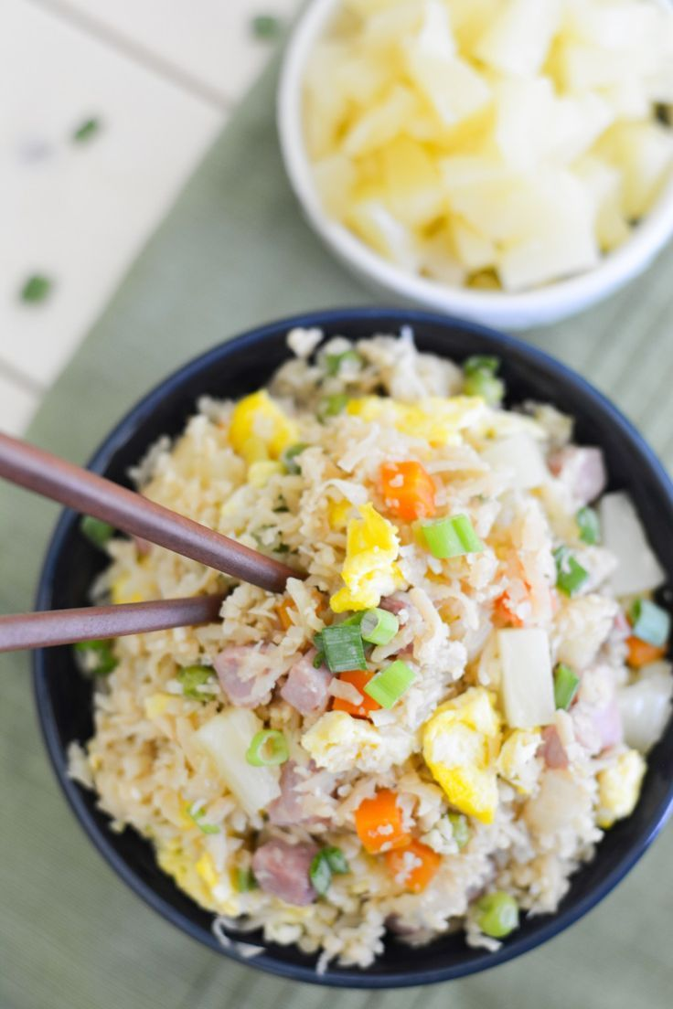 This Hawaiian Cauliflower Fried Rice is packed with so much flavor, including…