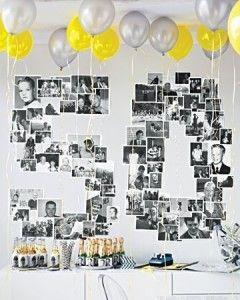 Anniversaire 50 ans avec des photos jeunesse