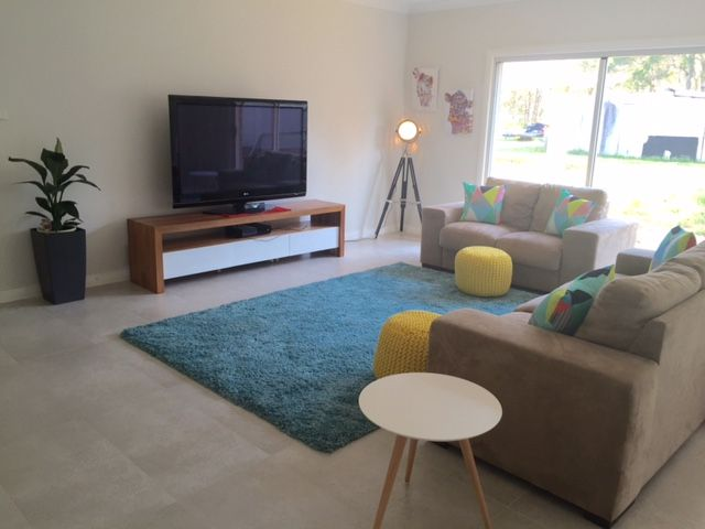 One of our customers, Julie, has shared a photo of the Children's Activity room in her Bronte Farmhouse Grande Manor. Her home is styled with a neutral backdrop and splashes of peacock blue and citrine yellow. For details on this design see http://mcdonaldjoneshomes.com.au/home-designs/new-south-wales-and-queensland/bronte/floorplans. #childrensactivity #children #kids #rompusroom #kidsroom #colour #neutral #neutralbackdrop #citrine #peacock #blue #yellow #acreage #farmhouse #bronte #design
