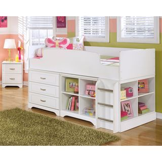 Shop for Signature Design by Ashley Lulu White Twin Loft Bed. Get free delivery…