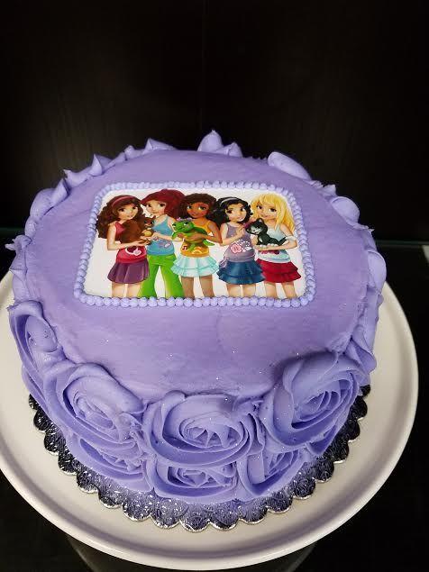 "Lego Friends Cake, 6"" - $35"