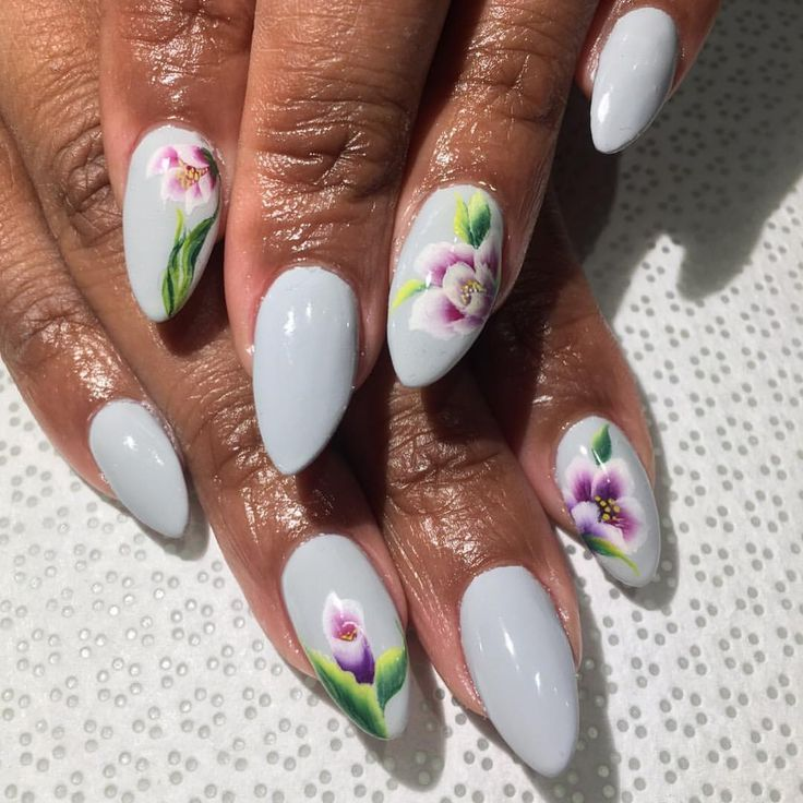 18 best i love others nail art images on pinterest nail arts badass purple flowers prinsesfo Image collections