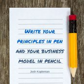 Write you business model in pencil