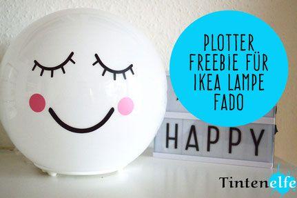 Blog Tintenelfe.de - Plotterfreitag mit Freebie für Ikea Lampe Fado #ikea…