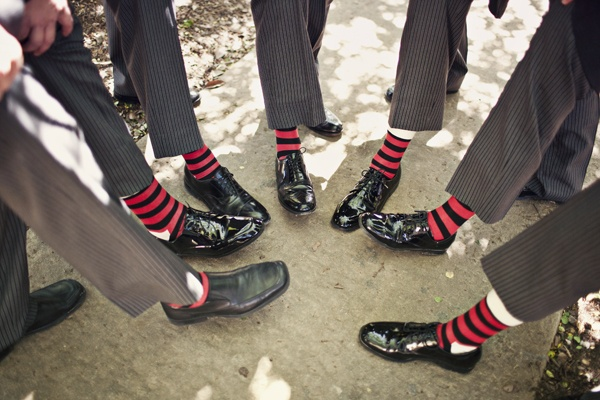 Grooms can have fun, too!  Make the day more personal with quirky details #weddings