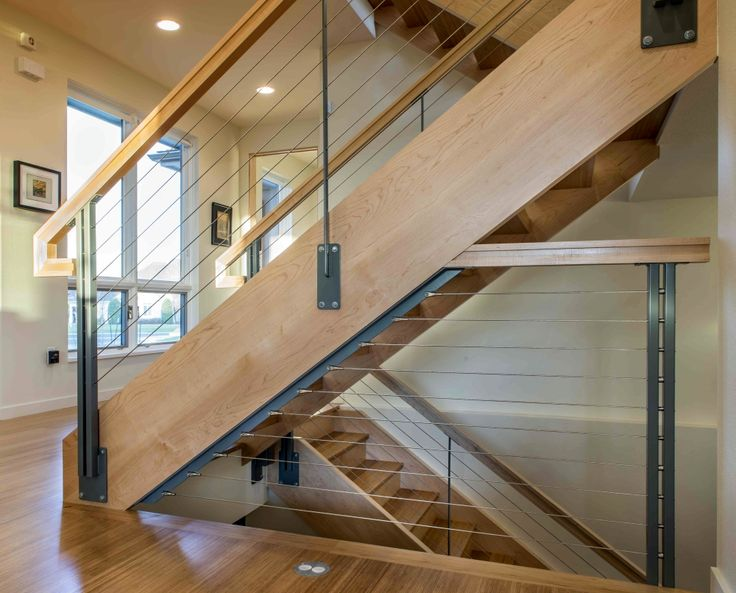 Ultra-tec stainless steel cable railing stair system. http://www.thecableconnection.com/ultra-tec.html
