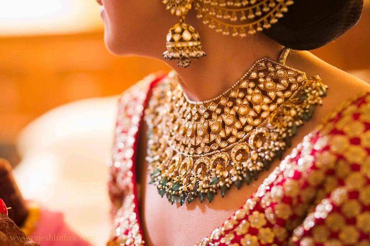 Get inspiration for your bridal jewellery #bridaljewelry #kundanjewellery #kundanearrings