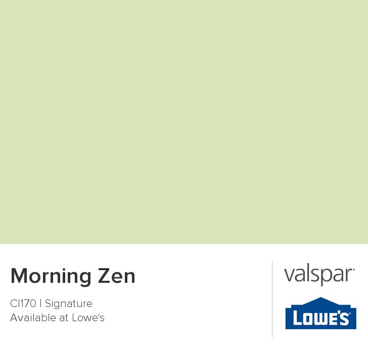 Valspar Paint - Color Chip - Morning Zen (master bedroom)