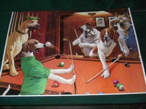 Poster Perros Jugando Al Billar Posters Y Revistas A Pen 10 En