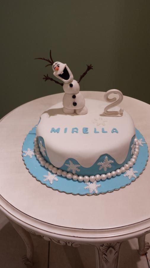 olaf-frozen - Cake by Christina Papadopoulou