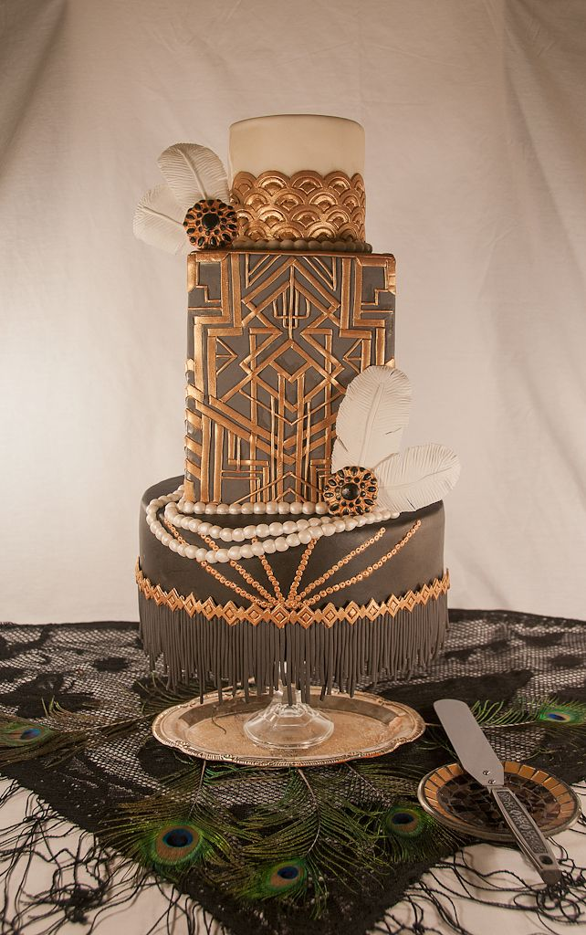 25+ best 1920s wedding cake ideas on Pinterest Art deco ...