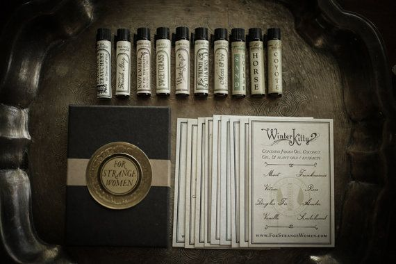 Deluxe Perfume Oil Sampler mini variety set of by ForStrangeWomen