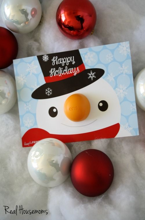 FREE PRINTABLE Snowman holiday printable EOS by DimplePrints
