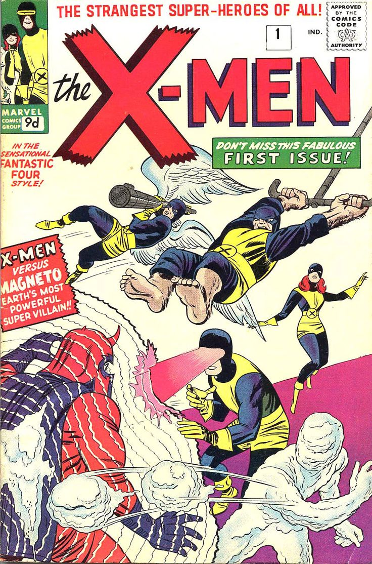 X-Men Vol 1, #1 - Believe it or not, this is the first X-Men comic (The first comic?) I ever read.