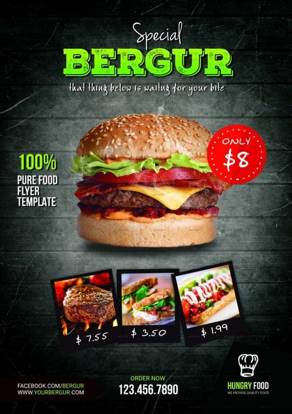 Burger Promotion Flyer Template Is A Modern And Attractive Psd Design