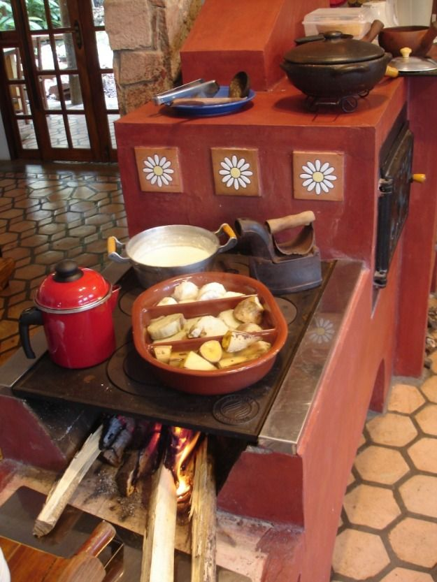 Brazilian wood cookstove perfect for a summer kitchen