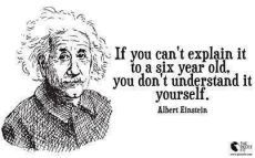 Albert Einstein Quote: If You Can't Explain It To A Six Year Old, You Don't Understand It Yourself