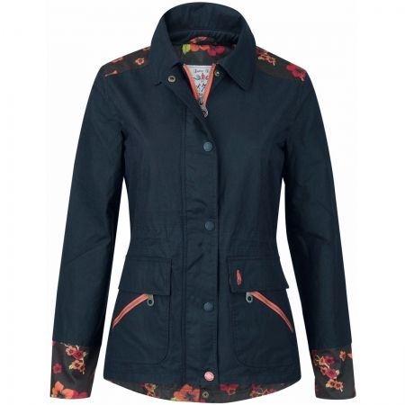 Jack Murphy Alex Waxed Jacket - A stunning take on the classic wax jacket. It features beautifully feminine floral detailing for a truly unique look.