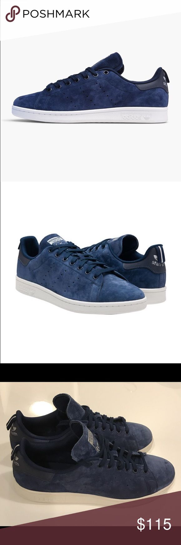 Adidas Original Stan Smith Navy Blue Suede. Excellent Condition!! Only worn handful of times! Adidas Original Stan Smith men's size US 10. Dark Navy Suede.     Like New! Adidas Shoes Athletic Shoes