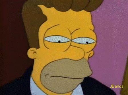 —Homero: ¿Qué estas haciendo..? ¡Bar! — ¡Maldito demonio!  —¡Ya te tengo!  —¡Maldito demonio vas a morir!  —Bart: Te quiero papi, te quiero.  —Homero: ah que sucio, truco.  —Bien, no voy a matarte  —Pero voy a decir tres cosas  —que te pesarán por el resto de tus días.  —¡Arruinaste a tu padre, destronarte a tu familia, y la calvicie es hereditaria!  —Bart: ¿No me jo...?